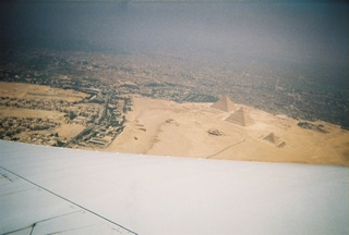 Picture taken by a friend of are's from the airplane as we where landing in Cario, Egypt