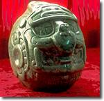 Carved Jade Head of the Maya Sun God Found at the Maya Ruins at Altun Ha in Belize